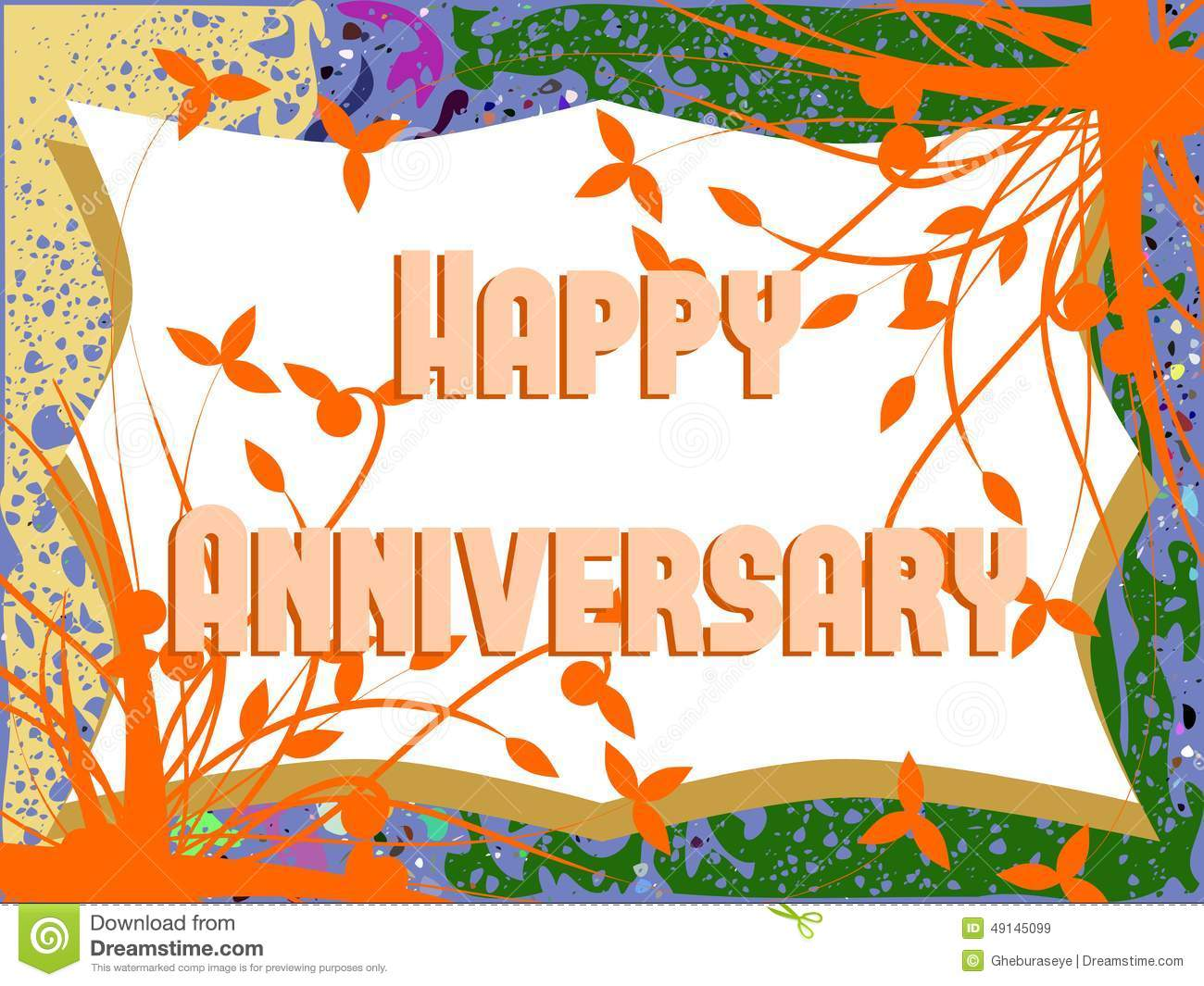 Leaves background clipart happy anniversary clip art transparent stock Happy Anniversary Greeting Card With Leaves Stock Illustration ... clip art transparent stock