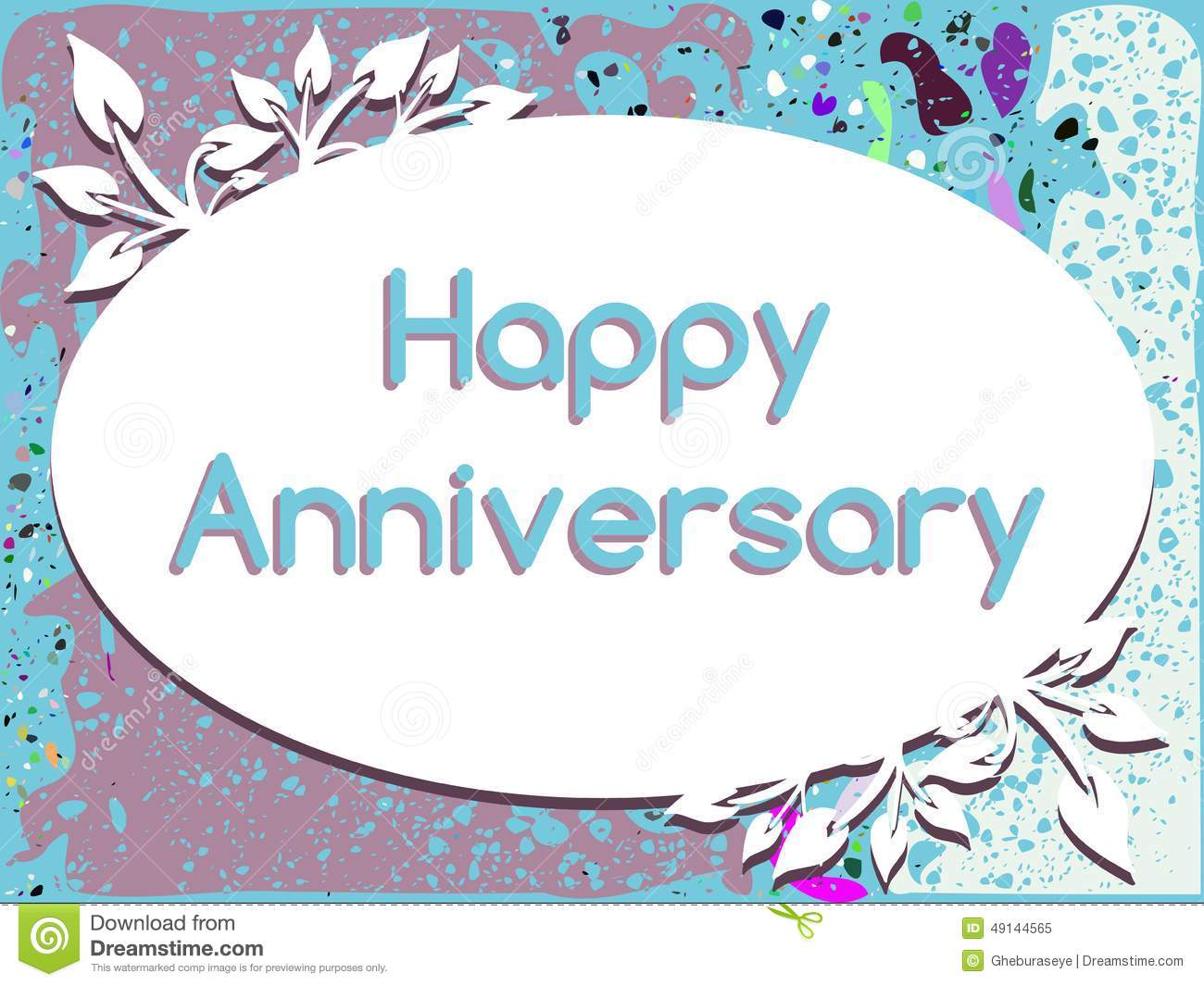 Leaves background clipart happy anniversary clip free library Happy Anniversary Greeting Card With Leaves Stock Illustration ... clip free library