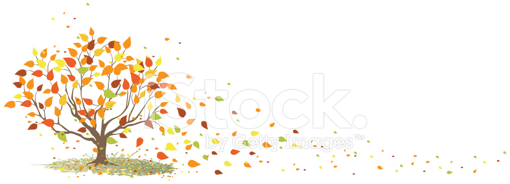 Leaves blowing in the wind clipart vector transparent library Fall Tree With It\'s Leaves Blowing IN The Wind Stock Vector ... vector transparent library