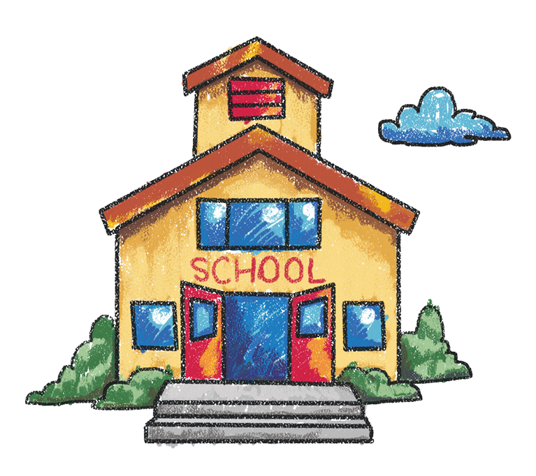 Leaving the house for school clipart picture Collect - The Crayon Initiative picture