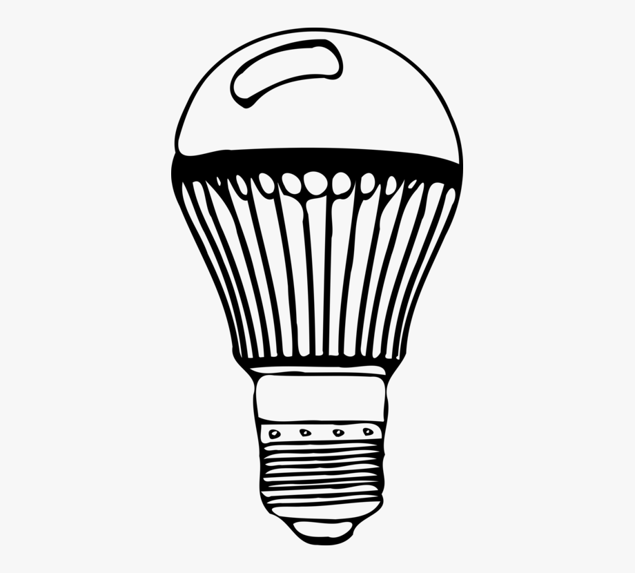 Led light bulb clipart black and white image freeuse stock Bulb Drawing Led Light - Sketch Of Led Bulb #1006645 - Free Cliparts ... image freeuse stock