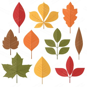 Leeyes clipart clip art royalty free library Set of 50 Autumn Leaves Clipart - Fall Leaves Clipart - Autumn Clip Art clip art royalty free library