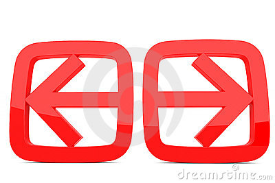 Left and right arrow clipart picture black and white Left And Right Arrow Stock Photos - Image: 21105753 picture black and white