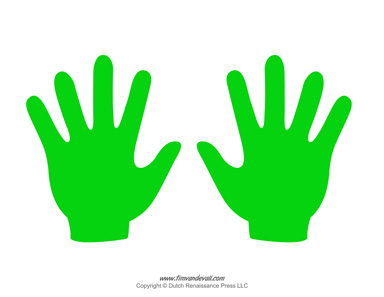 Left and right kid s hand clipart image picture library stock Handprint Outline | Free download best Handprint Outline on ... picture library stock