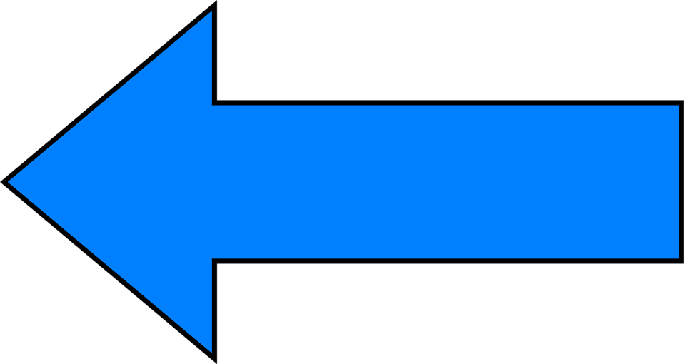 Left arrow clip art picture freeuse library Illustration of a blue left facing arrow : Free Stock Photo | Clip ... picture freeuse library