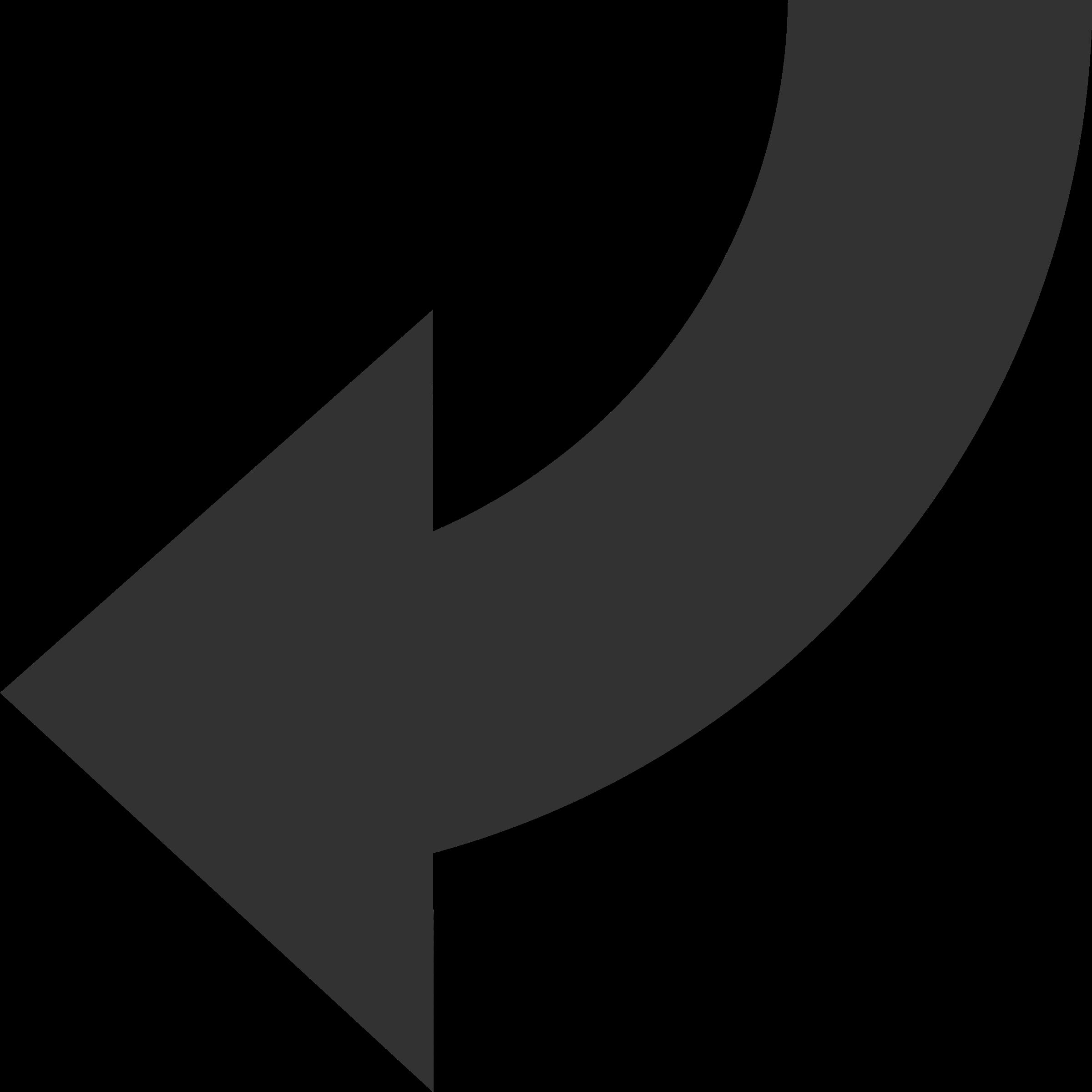 Left arrow clip art svg black and white stock Clipart - Rotate Arrow Top to Left svg black and white stock