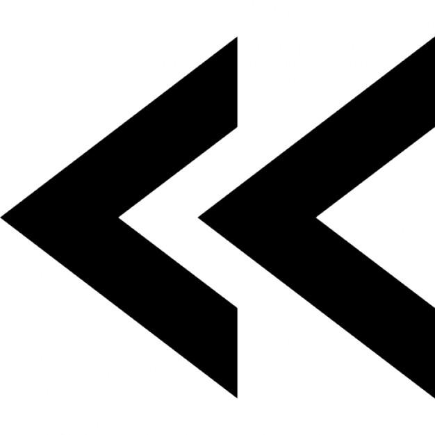 Left arrows svg freeuse Double left arrows symbol Icons   Free Download svg freeuse
