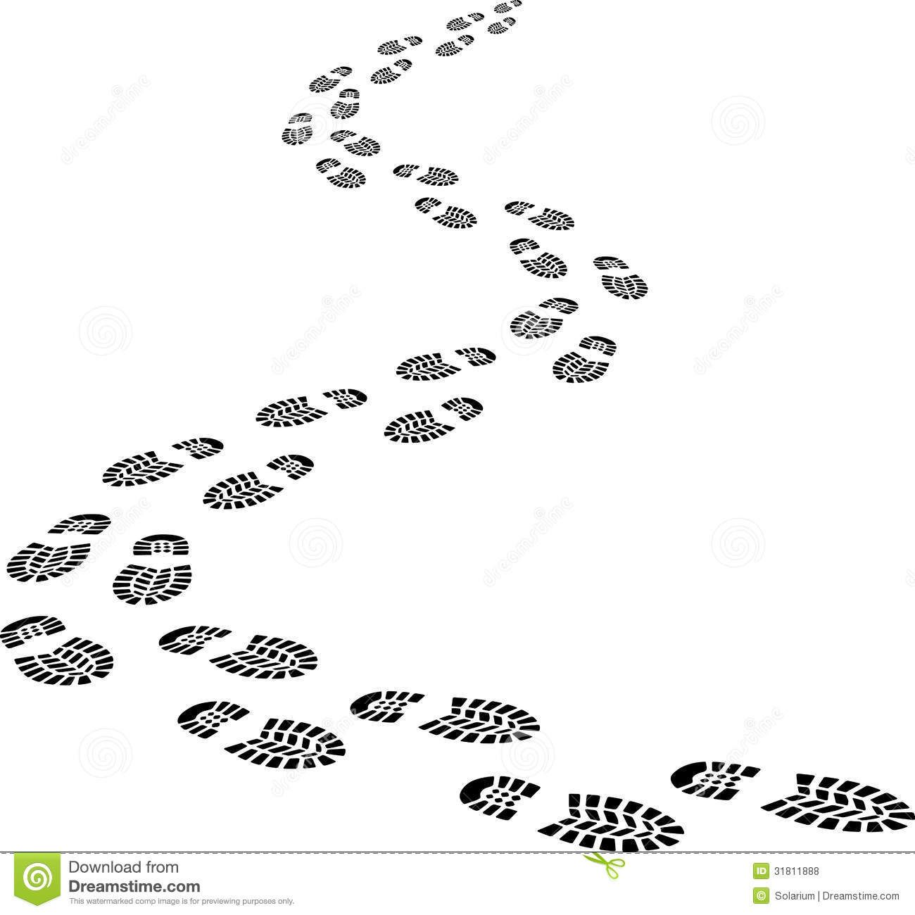 Left behind clipart graphic royalty free stock Footprints (or ) are the impressions or images left behind by a ... graphic royalty free stock