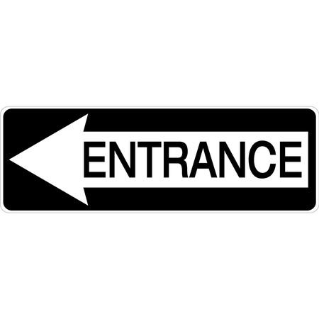 Left facing arrow svg freeuse download Aluminum Entrance Sign with Left Arrow svg freeuse download