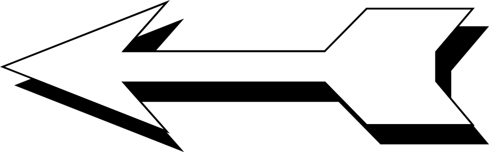 Left facing arrow clip art transparent download Arrow White | Free Stock Photo | Illustration of a left facing 3d ... clip art transparent download