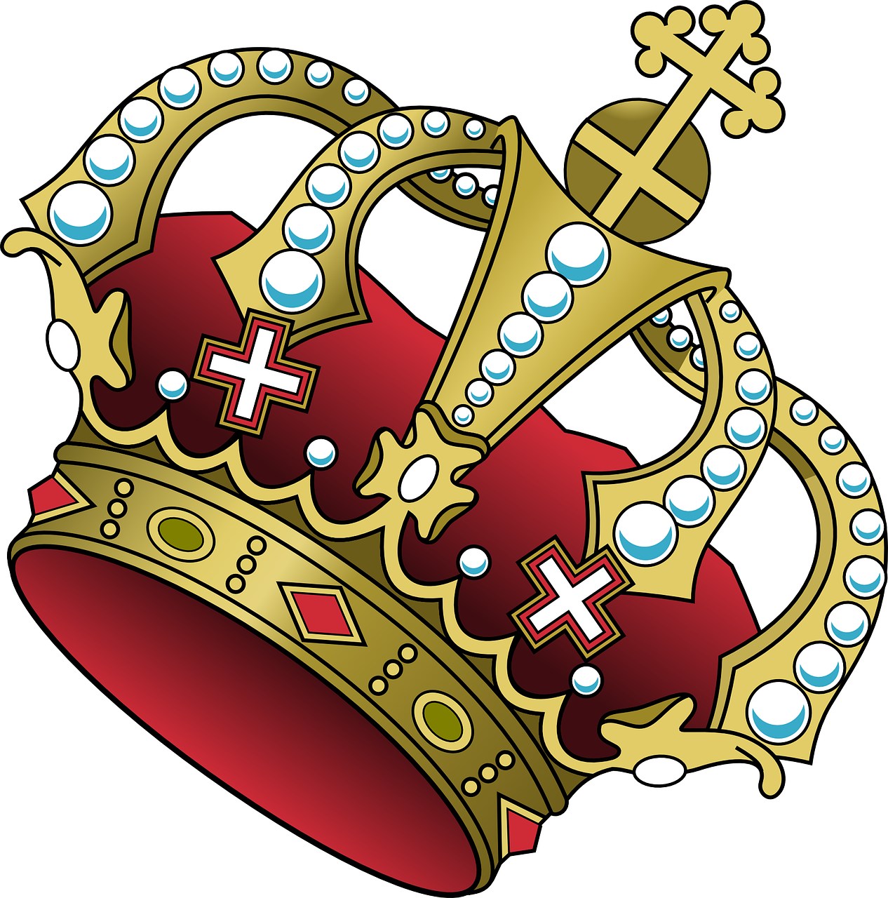 Left tilted king and queen crown clipart png svg royalty free stock Crown Cross Jewelry Red Power PNG Image - Picpng svg royalty free stock
