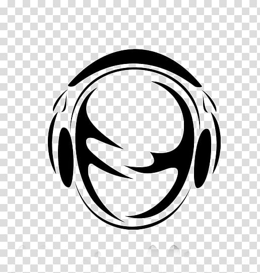 Legend fm clipart banner black and white Microphone Headphones Radio, Black and white silhouette headphones ... banner black and white