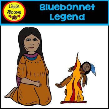 Legend of bluebonnet she who is alone clipart image royalty free stock Bluebonnet Legend Clip Art image royalty free stock