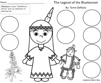 Legend of bluebonnet she who is alone clipart clipart transparent stock Comparing Two Legends by Tomie DePaola clipart transparent stock