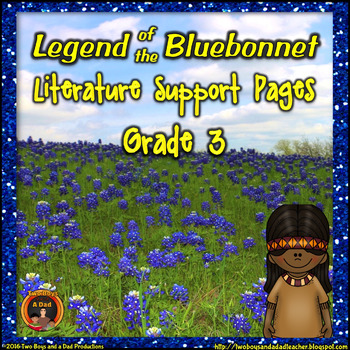 Legend of bluebonnet she who is alone clipart image black and white library The Legend Of The Bluebonnet Worksheets & Teaching Resources | TpT image black and white library