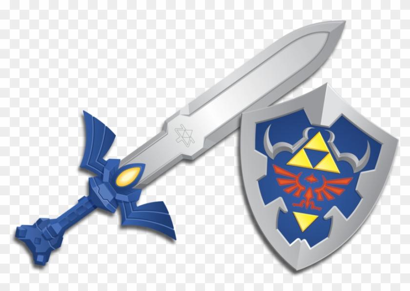 Legend of zelda sword and shild clipart graphic transparent stock Zelda Wind Waker Master Sword And Shield By Burningeyestudios - Wind ... graphic transparent stock