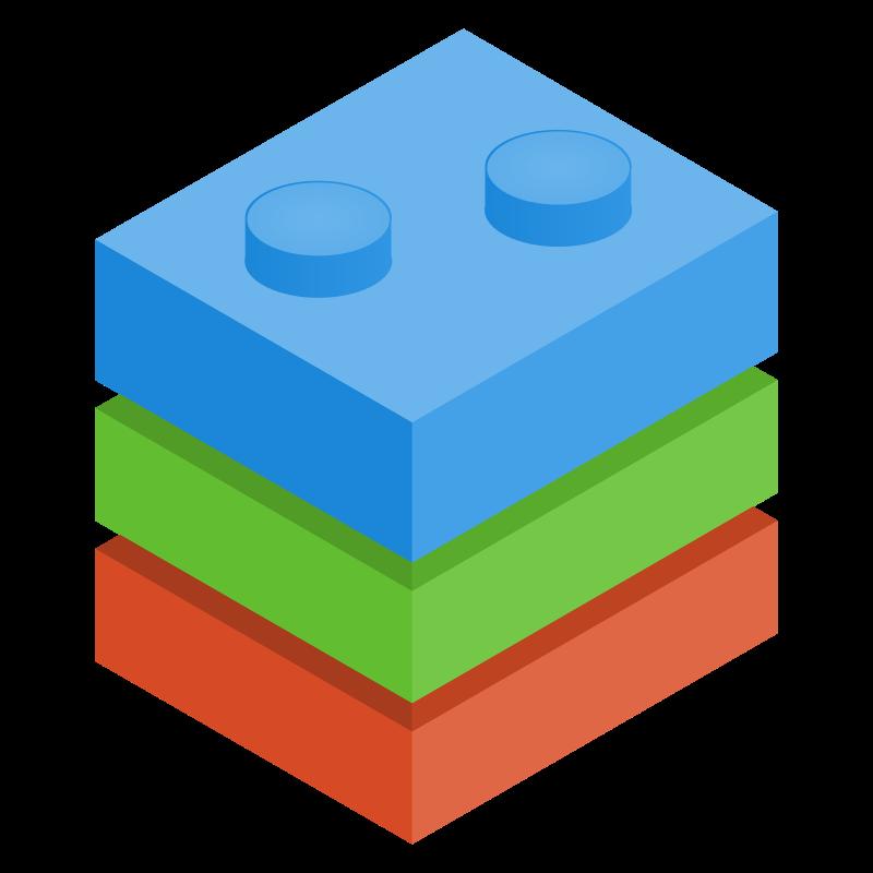 Clipart blocks. Image of lego building