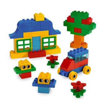 Lego building blocks clipart image black and white stock Duplo blocks clip art - ClipartFest image black and white stock