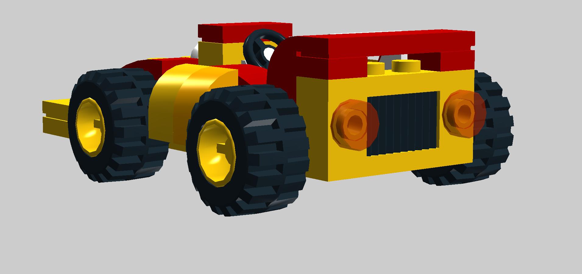 Lego car clipart image black and white MK Cartoon Gocart - Bricksafe image black and white