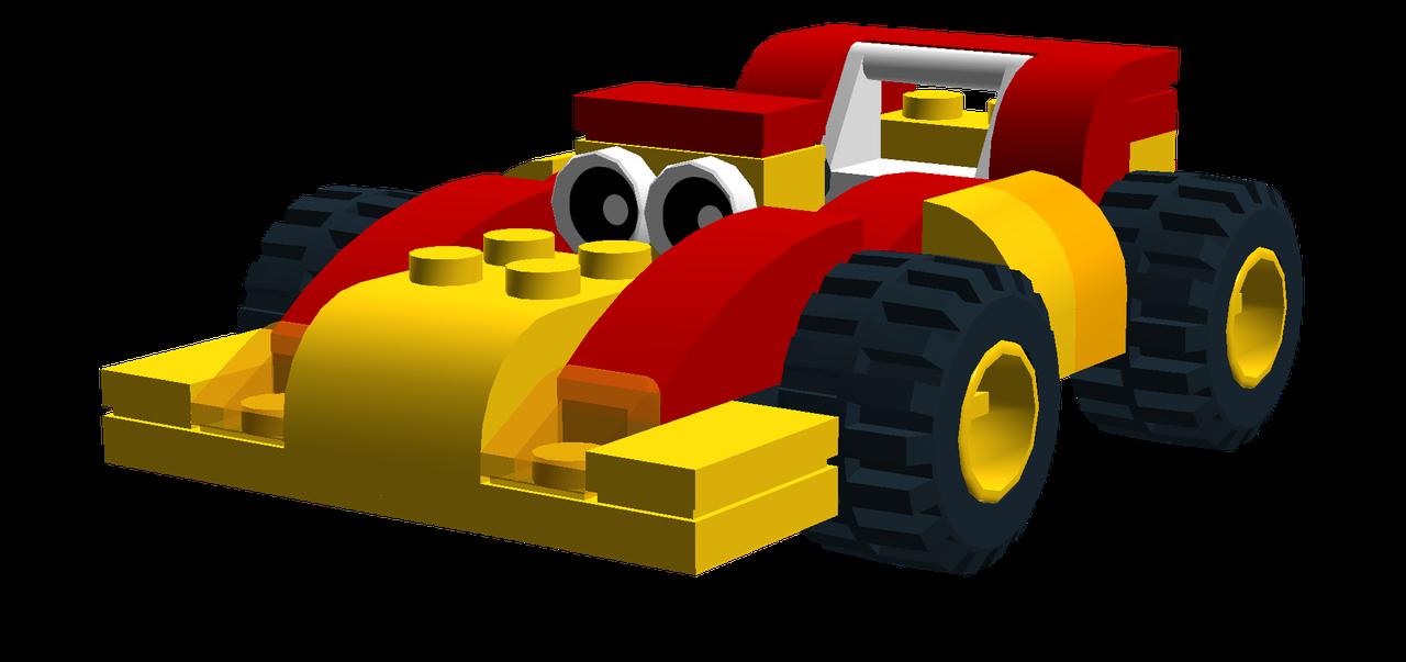 Lego car clipart jpg transparent library MK Cartoon Gocart - Bricksafe jpg transparent library