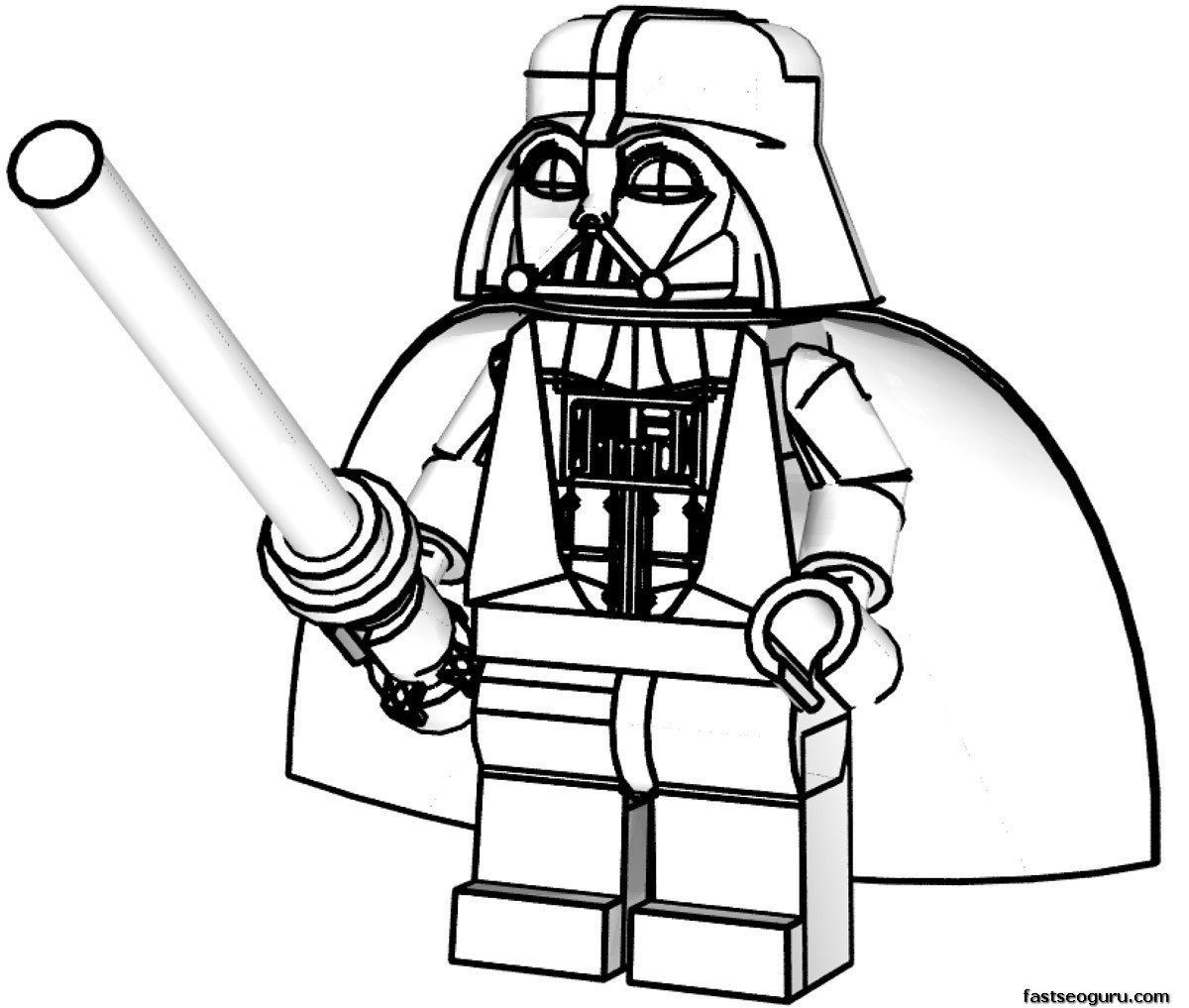 Lego character clipart black and white clip library Lego star wars clipart black and white - ClipartFest clip library