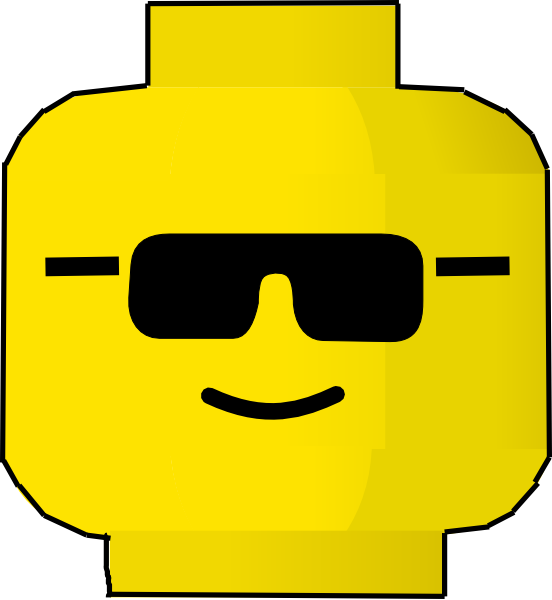 Lego face with sun glasses clipart jpg royalty free stock Lego Border Clipart - Clipart Kid jpg royalty free stock