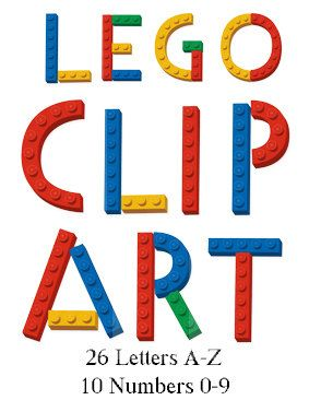 Lego clipart images clip library library Digital Lego Clipart 26 Letters and 10 Lego Numbers by ... clip library library