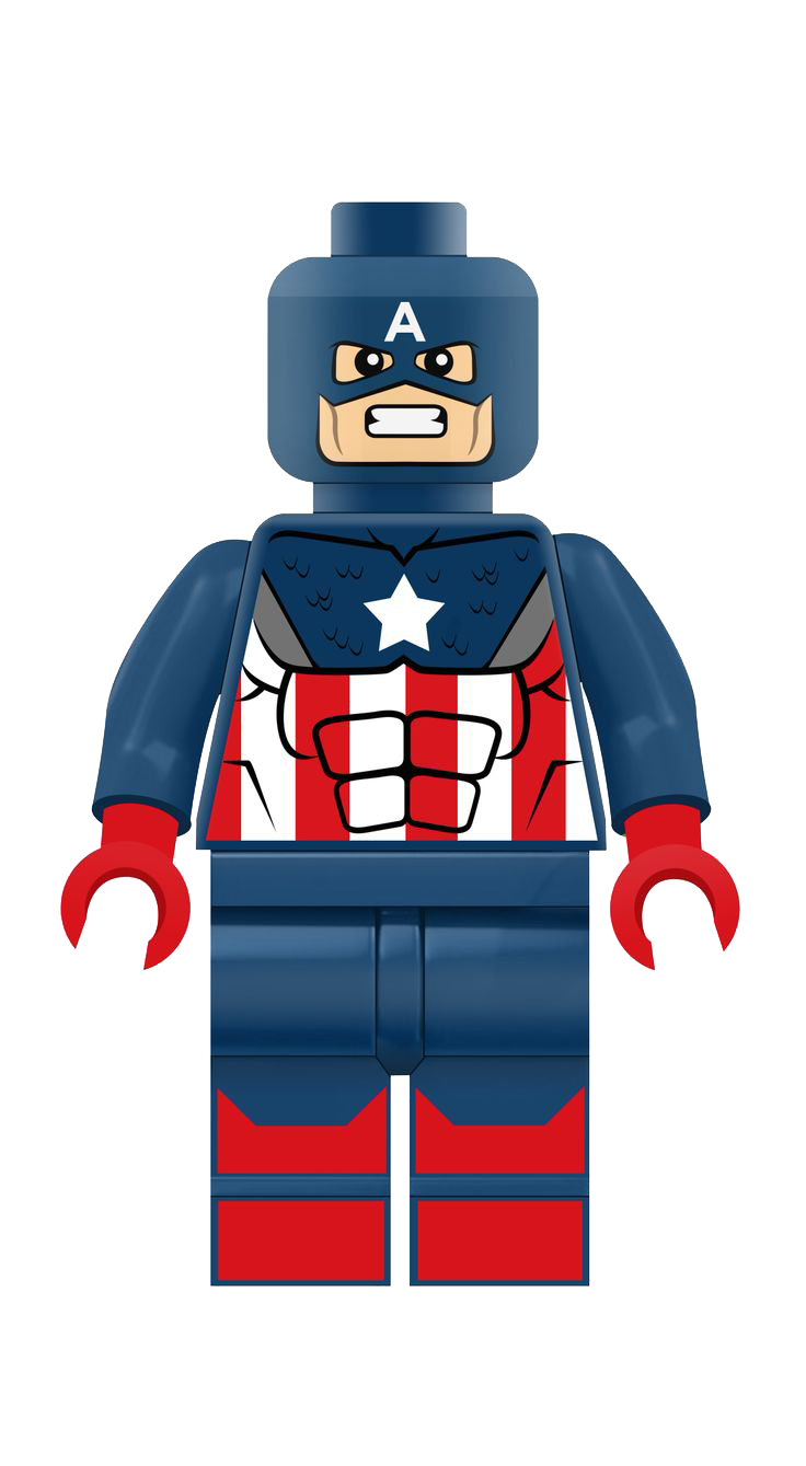 Lego crown clipart clip black and white Captain America Lego Clipart Png clip black and white