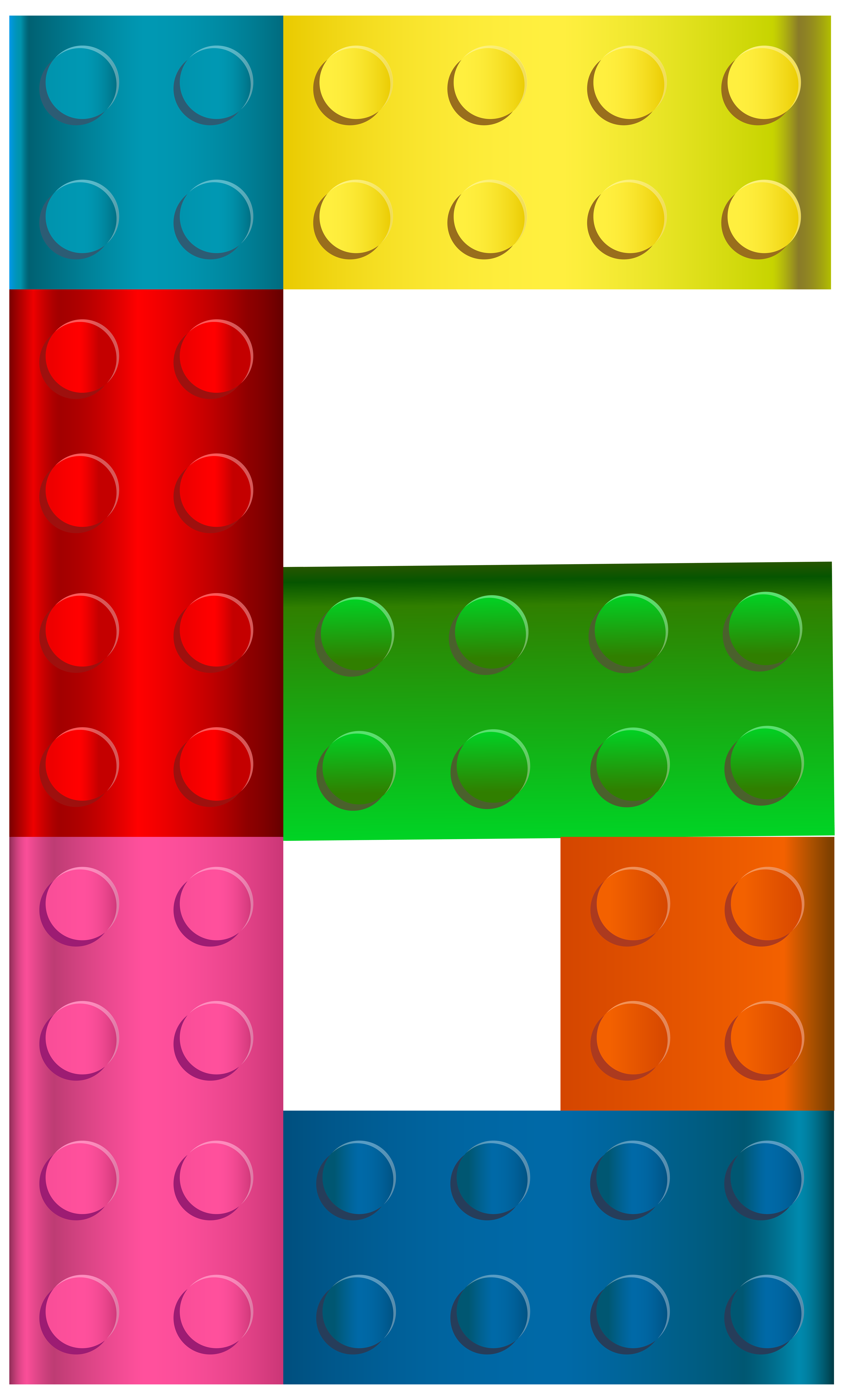 Lego clipart images svg library stock Lego Number Six PNG Transparent Clip Art Image | Gallery ... svg library stock
