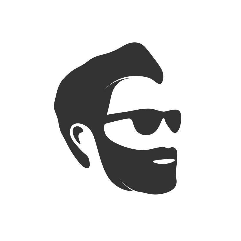Lego face with sun glasses clipart vector black and white Man Face Logo | Beauty free logo images, beauty free logo design ... vector black and white