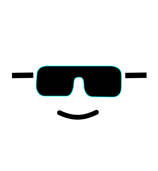 Lego face with sun glasses clipart svg black and white download Lego Face - B&w Clip Art at Clker.com - vector clip art online ... svg black and white download