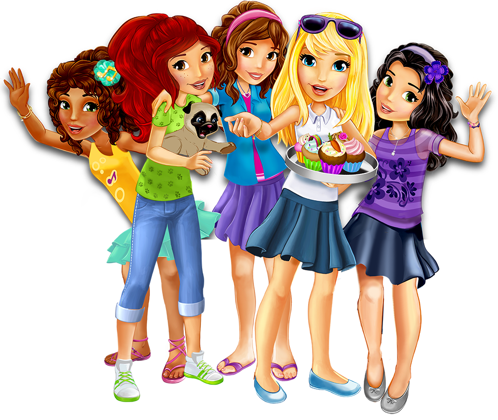 Lego friends clipart image black and white Let's be friends - Explore - LEGO® Friends™ - LEGO.com - Friends ... image black and white