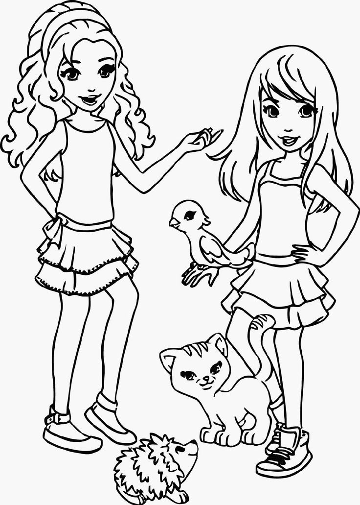 Lego friends clipart graphic freeuse stock Lego Friends Coloring Pages To Print coloring page, coloring image ... graphic freeuse stock