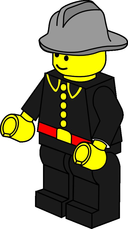 Lego house clipart vector transparent Lego Town Fireman Clipart   i2Clipart - Royalty Free Public Domain ... vector transparent