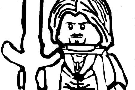 Lego lord of the rings clipart clip art royalty free Aragorn LEGO Lord of the Rings Coloring Page | School ... clip art royalty free