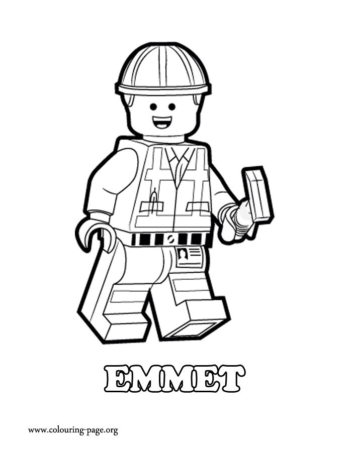 Lego man movie character clipart graphic library Construction worker lego man clipart silhouette - ClipartFest graphic library