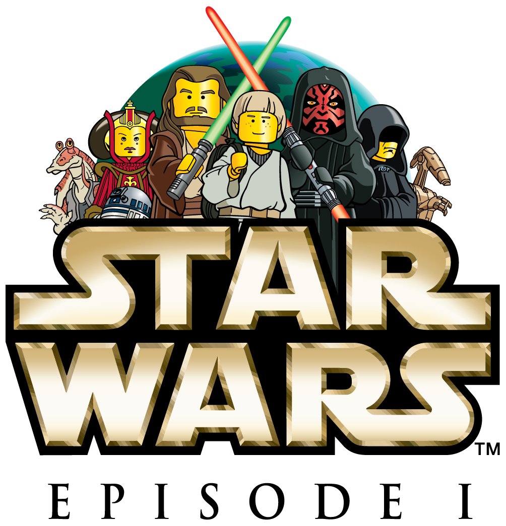 Lego star wars clipart black and white download LEGO Star Wars Episode 1 Logo Clipart black and white download