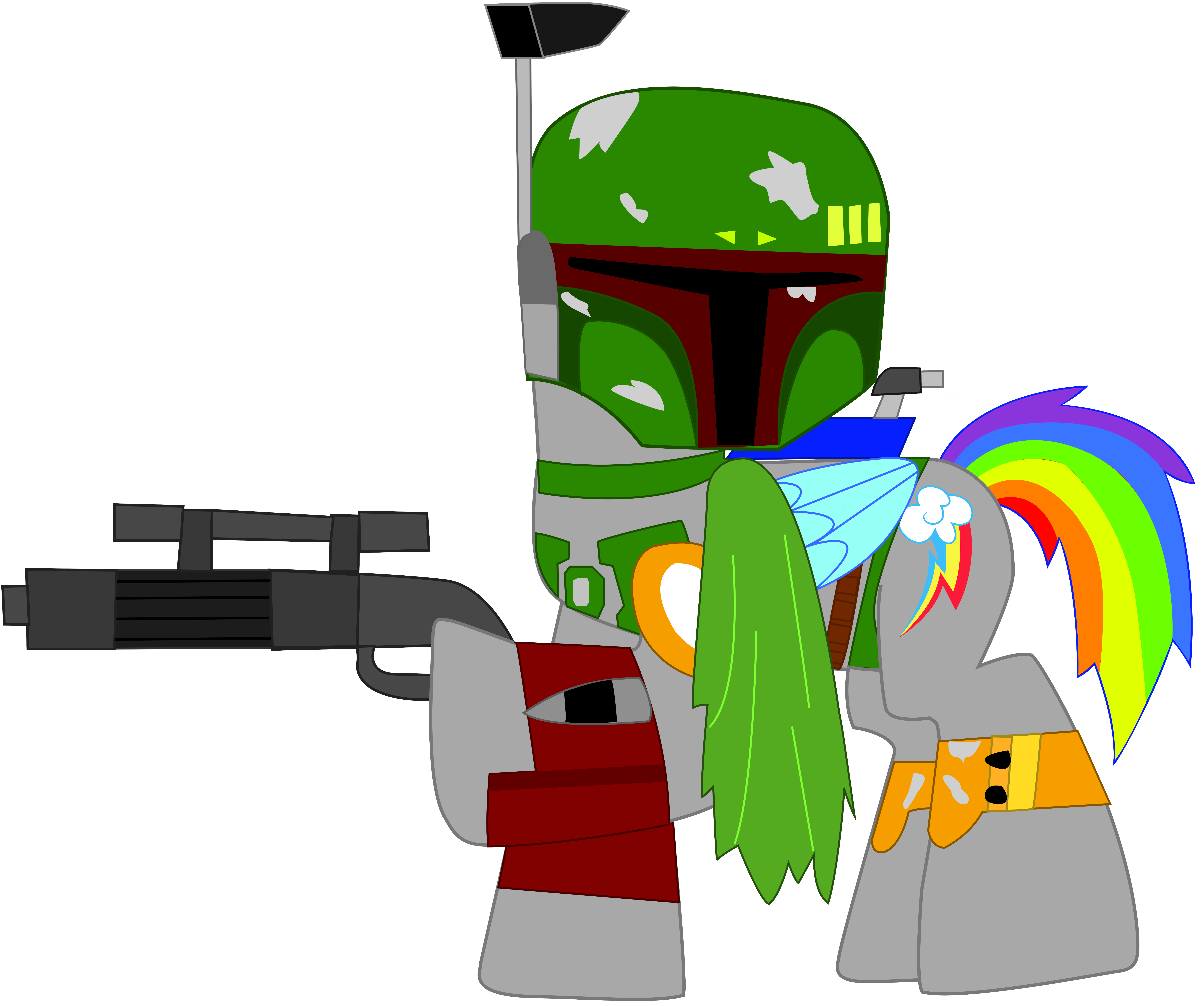 Lego star wars clipart clip art library Rainbow Dash as Boba Fett in Star wars by EJLightning007arts on ... clip art library