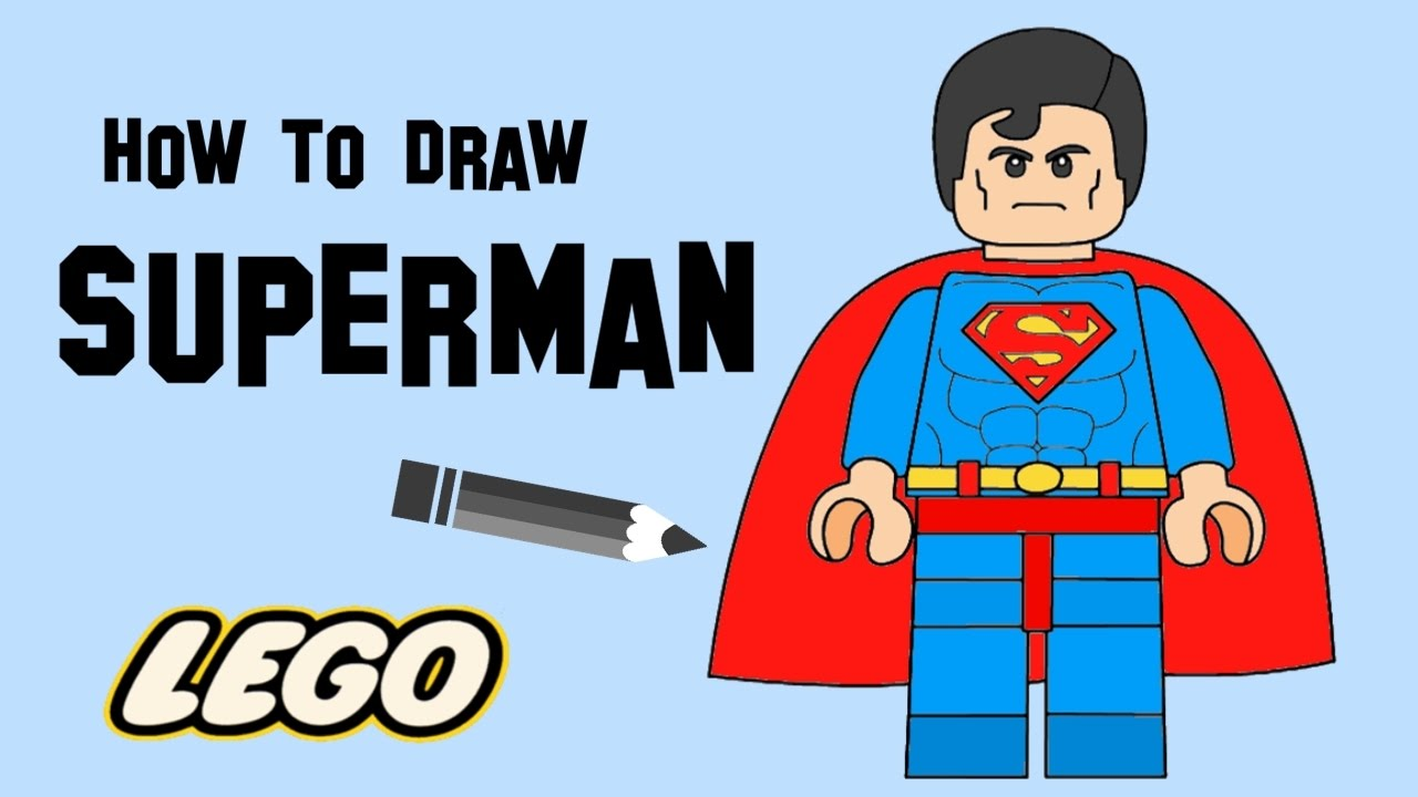 Lego superman clipart vector royalty free download How to draw Lego Superman - YouTube vector royalty free download