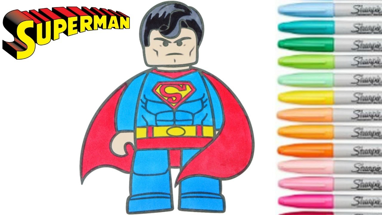 Lego superman clipart jpg free Lego Superman Coloring Book Superhero Colouring Pages For Kids ... jpg free
