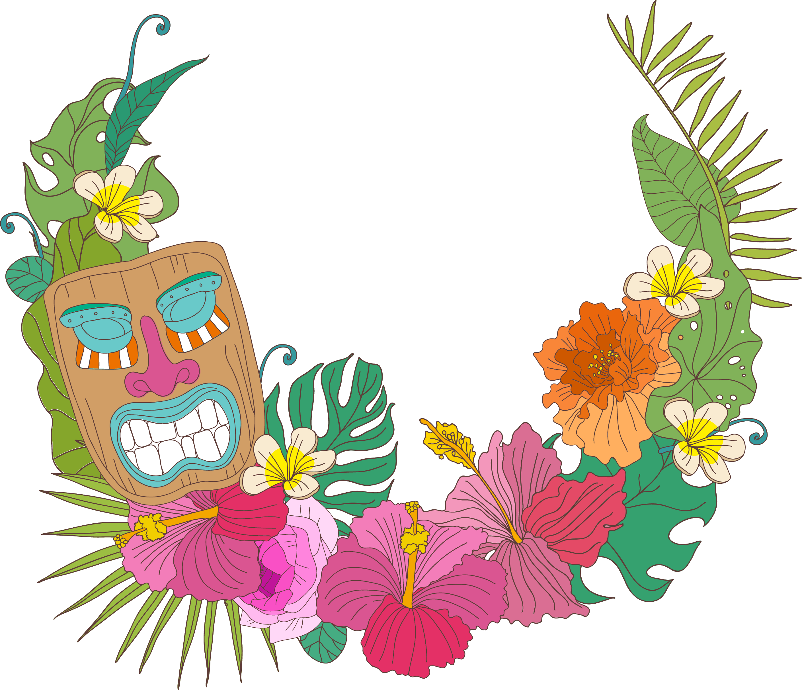 Library of lehua flower image stock png files Clipart Art 2019