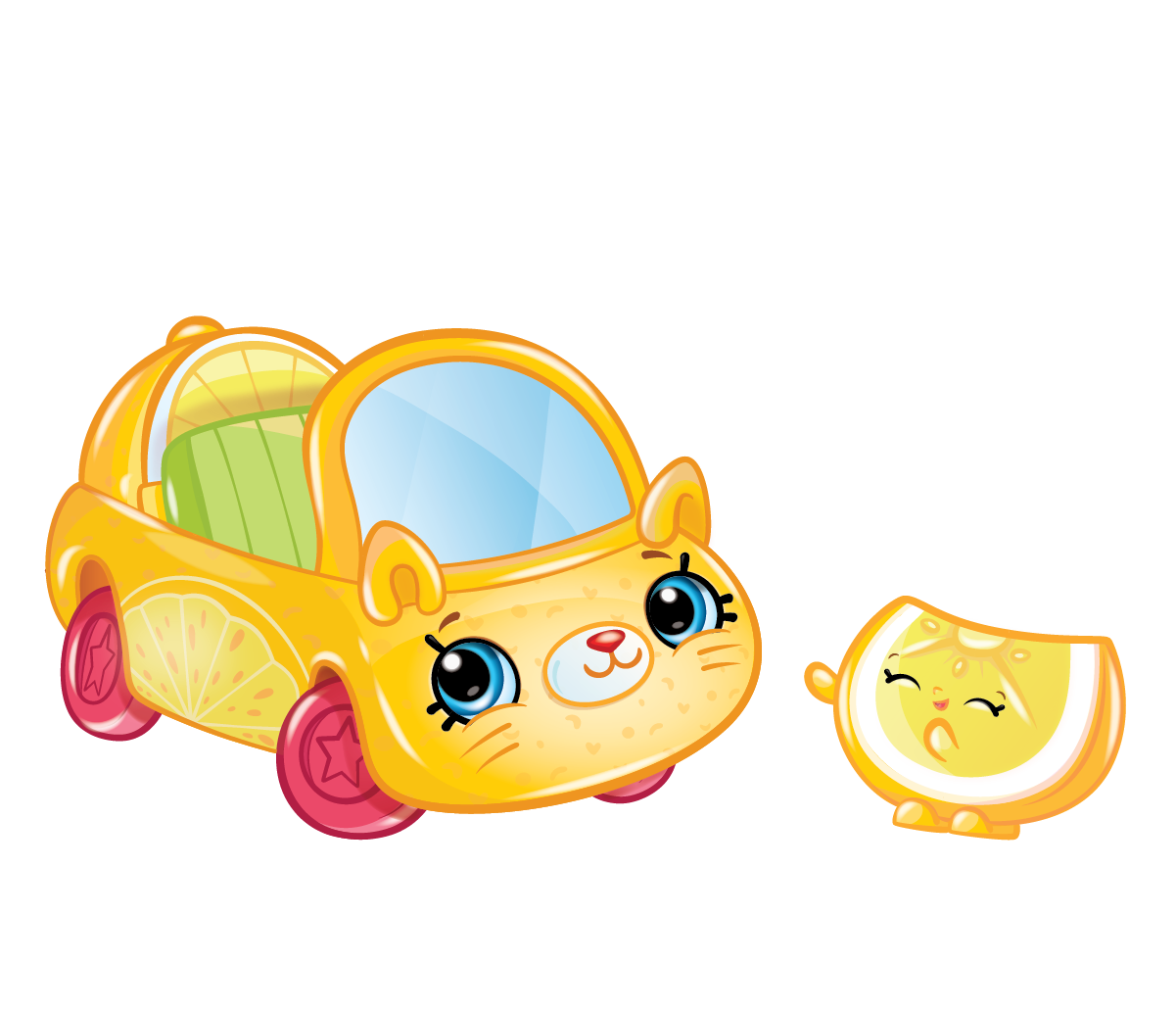 Lemon car clipart vector transparent stock Cutie Cars Characters - Meet Your Favourite Cutie Cars Characters vector transparent stock