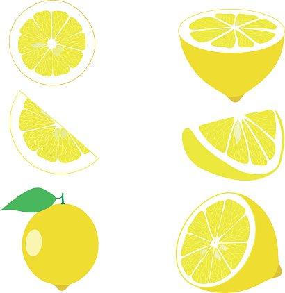 Lemon slices clipart banner library download Lemon, Lemon Slices, Set of Lemons, Vector Illustrations premium ... banner library download