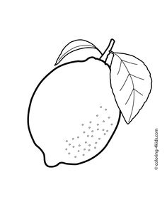 Lemon with leaf clipart black and white svg stock Lemon pattern. Use the printable outline for crafts, creating - Clip ... svg stock