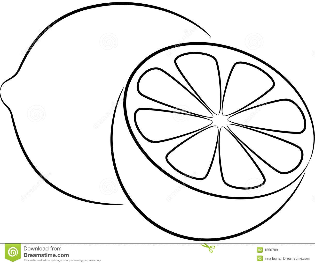 Lemon with leaf clipart black and white vector free library Lemon Clipart Black And White | Free download best Lemon Clipart ... vector free library