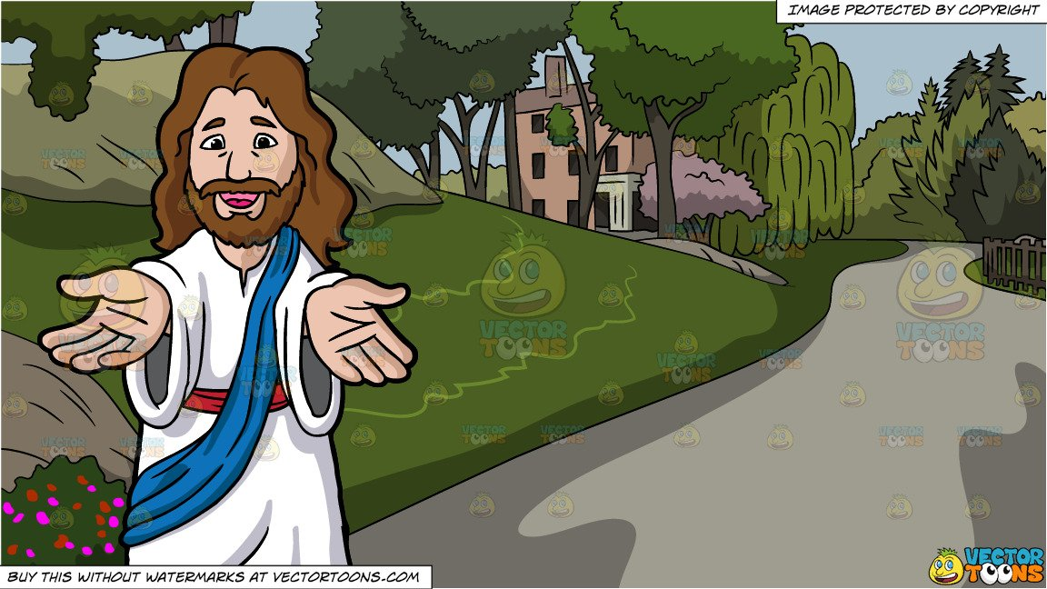 Lending a hand at christmas clipart clip free Jesus Christ Lending His Hands And Welcoming Us and Pathway In The Park  Background clip free