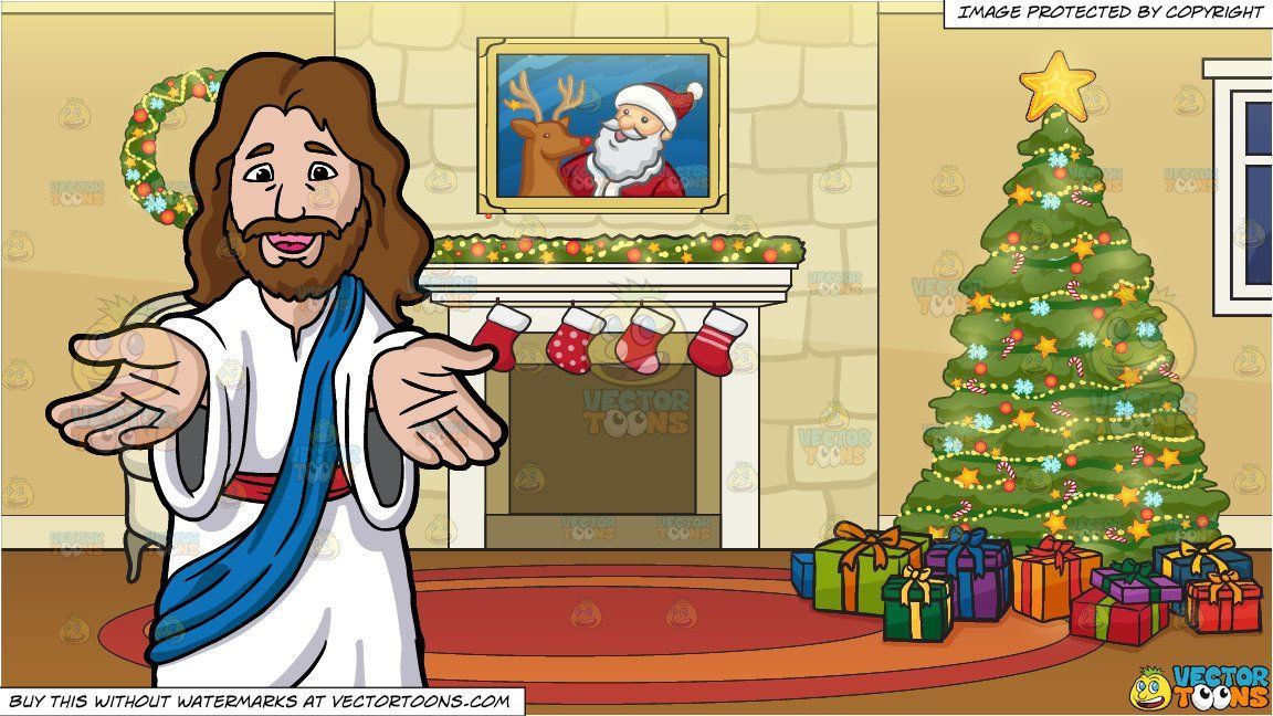 Lending a hand at christmas clipart jpg transparent library clipart #cartoon Jesus Christ Lending His Hands And Welcoming Us and ... jpg transparent library