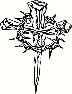 Lent cross with crown of thorns clipart png transparent Crown Of Thorns Drawing | Free download best Crown Of Thorns Drawing ... png transparent