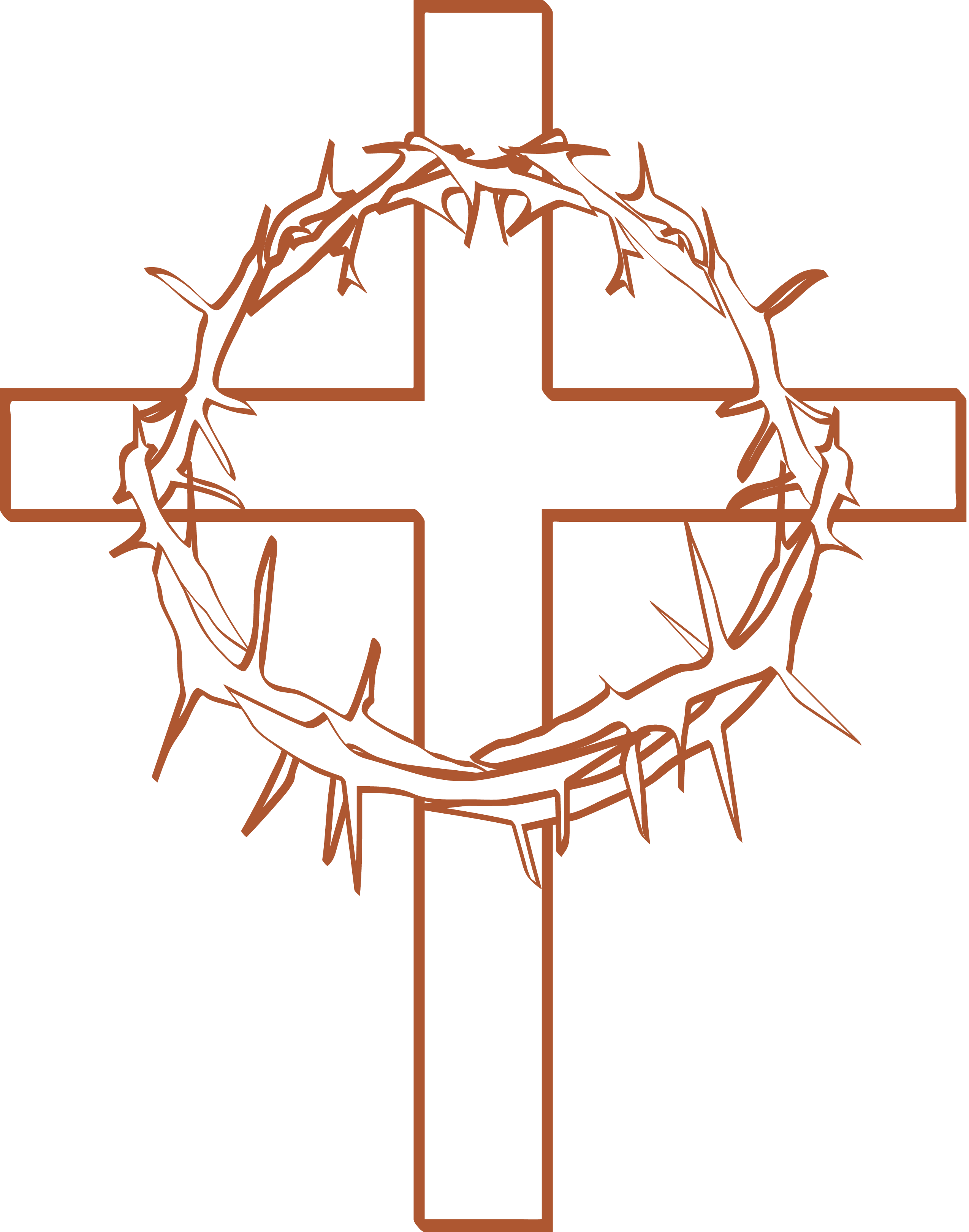 Lent cross with crown of thorns clipart clipart black and white Free Thorn Crown Cliparts, Download Free Clip Art, Free Clip Art on ... clipart black and white
