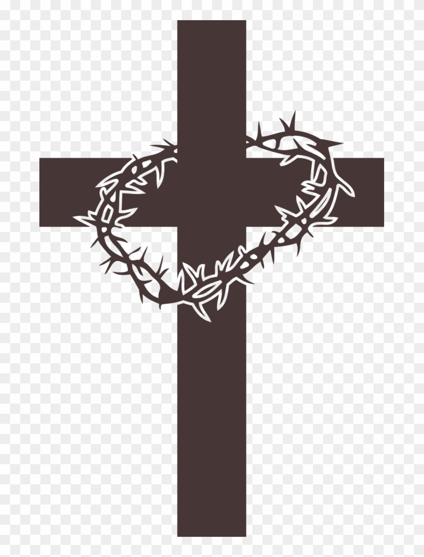 Lent cross with crown of thorns clipart graphic stock Cross With Crown Of Thorns Clipart, HD Png Download - 683x1024 ... graphic stock